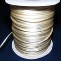 """Szatén zsinór - 2 mm (ZS33. minta/1 m) - vanília, Gyöngy, ékszerkellék, Ékszerkészítés,  Szatén zsinór - más néven """"patkányfarok"""" (ZS33. minta) - krém  Kiválóan alkalmas fonási technikákh..., Alkotók boltja"""