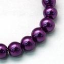Viaszgyöngy-26 (Ø 10 mm/~ 40 db) - extra lila, Gyöngy, ékszerkellék,  Viaszgyöngy-26 - extra lila  Méret: Ø 10 mmFurat: 1 mm  A csomag tartalma: kb. 40 db viaszgyöng..., Alkotók boltja