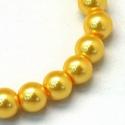 Viaszgyöngy-7 (Ø 10 mm/~ 40 db) - aranysárga, Gyöngy, ékszerkellék,  Viaszgyöngy-7 - aranysárga  Méret: Ø 10 mmFurat: 1 mm  A csomag tartalma: kb. 40 db viaszgyöng..., Alkotók boltja