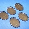Medál alap (131. minta/1 db),  Medál alap (131. minta) - ovális - antik bronz ...