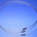 Sodrony nyaklánc alap (6. minta/1 db) - ezüst, Gyöngy, ékszerkellék,  Sodrony nyaklánc alap (6. minta) - ezüstSodrony (tigrisbajusz) nyaklánc alap, szerelt, praktikus..., Alkotók boltja