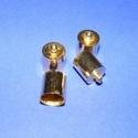 Bőrvég (40 minta/1 db) - 14x10 mm, Gyöngy, ékszerkellék,  Bőrvég és szalagvég (40 minta) - arany színben  Mérete: 14x10 mm Belső átmérő: 9 mm  Az ár egy dara..., Alkotók boltja