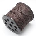Szarvasbőr utánzat-14 (3x1,4 mm/1 m) - kávébarna, Vegyes alapanyag, Egyéb alapanyag, Bőrművesség,  Szarvasbőr utánzat-14 - kávébarna  Mérete: 3x1,4 mm  Nyakbavaló alapnak, fonási technikákhoz ajánl..., Alkotók boltja