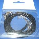 Bőrutánzat nyaklánc alap (19. minta/1 db) - fekete, Gyöngy, ékszerkellék,  Bőrutánzat nyaklánc alap (19. minta) - feketeA szerelékek nikkel színűek.A nyaklánc hossza: ..., Alkotók boltja