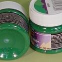 Textilfesték (50 ml) - zöld, Festék, Textilfesték, Festékek,  Textilfesték (50 ml) - zöld  Vízbázisú, jól fedő festék textil díszítésére. Ecsettel, szivaccsal v..., Alkotók boltja