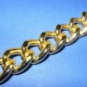 Arany színű lánc (53. minta/115 c m) - 18x14x3,5 mm, Gyöngy, ékszerkellék, Ékszerkészítés,  Arany színű lánc (53. minta)  A szem mérete: 18x14x3,5 mm  A feltüntetett ár 1,15 méter láncra von..., Alkotók boltja