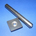 Ringli beütő készlet (2 részes) - 5 mm, Szerszámok, eszközök,  Ringli beütő készlet (2 részes)  Mérete:- beütő szár: 100x12 mm- beütő alap: 30x30x6 mm  ..., Alkotók boltja