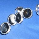 Fülbevaló alap (254/C minta/2 db), Gyöngy, ékszerkellék, Ékszerkészítés,  Fülbevaló alap (254/C minta) - stiftes - platinum színben  Mérete: 12 mm (a belméret: 10 mm); a tü..., Alkotók boltja