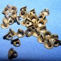 Gyöngykupak akasztó(45/B. minta/10 db) bronz, Gyöngy, ékszerkellék, Egyéb alkatrész,  Gyöngykupak akasztó(45/B. minta/10 db) bronz  Mérete: 4x3,5 mm  A furat mérete 1 mm  Az ár 10 ..., Alkotók boltja
