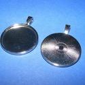 Medál alap (120/P minta/1 db), Gyöngy, ékszerkellék,  Medál alap (120/P minta) - kerek - platinum színben  Mérete: 33x25x1 mmA belső mérete: 25 mm (..., Alkotók boltja
