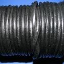 Hasított bőrszíj - 5 mm (1. minta/1 m) - fekete , Egyéb alapanyag, Bőrművesség,  Hasított bőrszíj (1. minta) - tekercses - fekete  Mérete: 5 mm átmérőjű  Valódi hasított marhabőrb..., Alkotók boltja