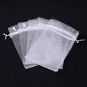 Organzatasak (10x12 cm/1 db) - fehér, Textil, Varrás,  Organzatasak (10x12 cm/1 db) - fehér  Organza szövetből készült anyag, jó tartású csomagolóanyag k..., Alkotók boltja