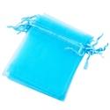 Organzatasak (10x12 cm/1 db) - vilkék, Textil,  Organzatasak (10x12 cm/1 db) - vilkék  Organza szövetből készült anyag, jó tartású csomagol..., Alkotók boltja