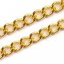 Táskalánc (9x6 mm/120 cm) - arany színű, Csat, karika, zár, Mindenmás,  Táskalánc (120 cm) - arany színű  A lánc erős anyagból készült. A szemei oválisak, felületük csisz..., Alkotók boltja