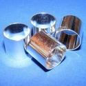 Cső-8 (13x14 mm/1 db), Gyöngy, ékszerkellék, Ékszerkészítés,  Cső-8 - ezüst színben  Mérete: 13x14 mm (belül: 13 mm)  Az ár egy darab termékre vonatkozik.   ..., Alkotók boltja
