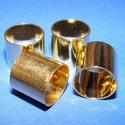 Cső-8/A (13x14 mm/1 db), Gyöngy, ékszerkellék, Ékszerkészítés,  Cső-8/A - arany színben  Mérete: 13x14 mm (belül: 13 mm)  Az ár egy darab termékre vonatkozik.  ..., Alkotók boltja