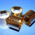 Cső-9/A (16x18 mm/1 db), Gyöngy, ékszerkellék, Ékszerkészítés,  Cső-9/A - arany színben  Mérete: 16x18 mm (belül: 17 mm)  Az ár egy darab termékre vonatkozik.  ..., Alkotók boltja