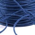 Viaszos pamutzsinór - 1,5-2 mm (ZS06. minta/1 m) - kék, Gyöngy, ékszerkellék, Ékszerkészítés,  Viaszos pamutzsinór (ZS06. minta) - kék  Nyakbavaló alap, karkötő alap alapanyaga. Fonáshoz, de bá..., Alkotók boltja