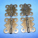 Zsanér (2. minta/1 db) - kis pillangó, Csat, karika, zár,   Zsanér (2. minta) - kis pillangó - antik bronz színben  A zsanér mérete (nyitottan): 24x20 mm..., Alkotók boltja