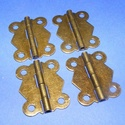 Zsanér (1. minta/1 db) - nagy pillangó, Csat, karika, zár,  Zsanér (1. minta) - nagy pillangó - antik bronz színben  A zsanér mérete (nyitottan): 32x27 mm..., Alkotók boltja