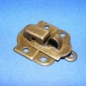 """Lakat pánt (1 db) - """"R"""" típus, Csat, karika, zár, Mindenmás,  Lakat pánt - """"R"""" típus - antik bronz színben     Mérete: 40x30 mm  5 mm-es szárvastagságú lakath..., Alkotók boltja"""