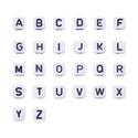 Betűgyöngy kocka (6x6x6 mm/1 db), Gyöngy, ékszerkellék,  Betűgyöngy - fehér - fekete nyomtatott betűkkel  Mérete: 6x6x6 mmFurat: 3 mm  Az ár 1 db gyö..., Alkotók boltja