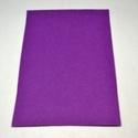 Dekorfilc (2 mm/puha) - sötétlila, Textil, Varrás,  Dekorfilc - puha - sötétlila  Mérete: 30x20 cmVastagsága: 2 mm  A filc anyag, könnyen vágható, var..., Alkotók boltja