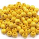 Festett fagyöngy-49 (Ø 10 mm/15 g) - sárga, Gyöngy, ékszerkellék,  Festett fagyöngy-49 - sárga  Mérete: Ø 10 mmFurat: 3 mm  Kiszerelés: 15 gA csomag tartalma: kb..., Alkotók boltja
