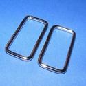 Szögletes bújtató (480. minta/1 db) - 46x21 mm, Csat, karika, zár, Alkotók boltja