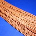 Bőrszíj - 3x1 mm (101. minta/1 db) - narancssárga, Egyéb alapanyag, Bőrművesség,  Bőrszíj (101. minta) - narancssárgaValódi, puha hasított marhabőrből készült.Nyaklánc alapokhoz és..., Alkotók boltja