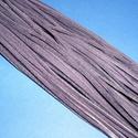 Bőrszíj - 3x1 mm (115. minta/1 db) - padlizsánlila , Egyéb alapanyag,  Bőrszíj (115. minta) - padlizsánlilaValódi, puha hasított marhabőrből készült.Nyaklánc alapokhoz és..., Alkotók boltja