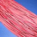 Bőrszíj - 3x1 mm (91. minta/1 db) - piros , Egyéb alapanyag, Bőrművesség,  Bőrszíj (91. minta) - pirosValódi, puha hasított marhabőrből készült.Nyaklánc alapokhoz és fonásho..., Alkotók boltja