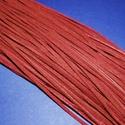 Bőrszíj - 3x1 mm (96. minta/1 db) - bordó, Egyéb alapanyag, Bőrművesség,  Bőrszíj (96. minta) - bordó   Valódi, puha hasított marhabőrből készült. Nyaklánc alapokhoz és fo..., Alkotók boltja