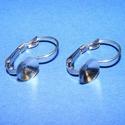 Nemesacél fülbevaló alap (STAS-44/2 db), Gyöngy, ékszerkellék, Alkotók boltja