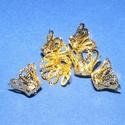 Gyöngykupak (30. minta/4 db) - 11mm, Egyéb alkatrész,  Gyöngykupak (30. minta) - arany színben  Mérete: 11 mm  Az ár 4 darab termékre vonatkozik.  , Alkotók boltja