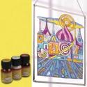 Üvegfesték (30 ml) - citrom, Üvegfesték,  Üvegfesték (30 ml) - citrom  Az áttetsző üvegfesték gyanta alapú, oldószere a terpentin. Gy..., Alkotók boltja