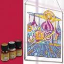 Üvegfesték (30 ml) - kármin, Üvegfesték,  Üvegfesték (30 ml) - kármin  Az áttetsző üvegfesték gyanta alapú, oldószere a terpentin. G..., Alkotók boltja