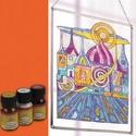 Üvegfesték (30 ml) - narancssárga, Üvegfesték,  Üvegfesték (30 ml) - narancssárga  Az áttetsző üvegfesték gyanta alapú, oldószere a terpen..., Alkotók boltja