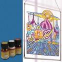 Üvegfesték (30 ml) - sötétkék, Üvegfesték,  Üvegfesték (30 ml) - sötétkék  Az áttetsző üvegfesték gyanta alapú, oldószere a terpenti..., Alkotók boltja