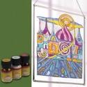 Üvegfesték (30 ml) - sötétzöld, Üvegfesték,  Üvegfesték (30 ml) - sötétzöld  Az áttetsző üvegfesték gyanta alapú, oldószere a terpent..., Alkotók boltja