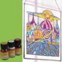 Üvegfesték (30 ml) - világoszöld, Üvegfesték,  Üvegfesték (30 ml) - világoszöld  Az áttetsző üvegfesték gyanta alapú, oldószere a terpen..., Alkotók boltja
