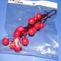 Koszorúdísz- kis piros bogyós ág (1db), Vegyes alapanyag, Mindenmás,   Koszorúdísz- kis fpiros bogyós ág (1db)    Mérete (bogyó): 10-15 mm(kb.30-35db)Az ág mérete kb...., Alkotók boltja