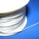 Szatén zsinór - 1 mm (ZS153. minta/1 m) - fehér, Gyöngy, ékszerkellék, Ékszerkészítés,  Szatén zsinór (ZS153. minta) - fehér  Kiválóan alkalmas fonási technikákhoz, nyakbavalók felfügges..., Alkotók boltja