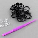 Gumigyűrű-5 (~300 db/csomag) - fekete, Vegyes alapanyag,  Gumigyűrű-5 - fekete  Karkötő készítésére alkalmas készlet, mely a következő termékeket..., Alkotók boltja