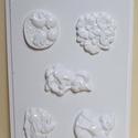 Húsvét-2 - húsvéti gipszöntő forma (5 motívum), Egyéb szerszám, eszköz, Gipszöntés,  Húsvét-2 - húsvéti gipszöntő forma  5 motívum: virág, csibék, 2 féle nyuszi, őzike  Mérete: - sabl..., Alkotók boltja