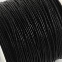 Viaszos pamutzsinór - 1 mm (12. minta/1 m) - fekete, Gyöngy, ékszerkellék,  Viaszos pamutzsinór (12. minta) - fekete  Nyakbavaló alap, karkötő alap alapanyaga. Fonáshoz, de bá..., Alkotók boltja
