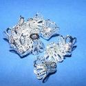 Gyöngykupak (28/A minta/4 db) - 11 mm, Egyéb alkatrész,  Gyöngykupak (28/A minta) - ezüst színben  Mérete: 11x9 mm  Az ár 4 darab termékre vonatkozik...., Alkotók boltja