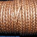 Fonott bőrszíj - 5 mm (9. minta/0,5 m) - antik sötétbarna, Egyéb alapanyag, Bőrművesség,  Fonott bőrszíj (9. minta) - antik sötétbarnaValódi bőr alapanyagból készült fonott, hengeres szíj...., Alkotók boltja