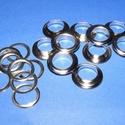 Fém ringli (Ø 12 mm/1 pár) - platinum, Csat, karika, zár,    Fém ringli - platinum színben  A csomag tartalma: 1 pár platinum színű fém ringli (egy ring..., Alkotók boltja