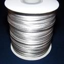 """Szatén zsinór - 2 mm (ZS31/B minta/1 m) - ezüstszürke, Gyöngy, ékszerkellék, Ékszerkészítés,  Szatén zsinór - más néven """"patkányfarok"""" (ZS31/B minta) - ezüstszürke  Kiválóan alkalmas fonási te..., Alkotók boltja"""